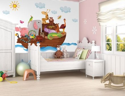 Wall mural wallpaper Animals - Noah's ark